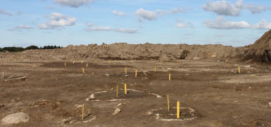 Arkæologiske udgravninger i Østfasen september 2015, markering af fund